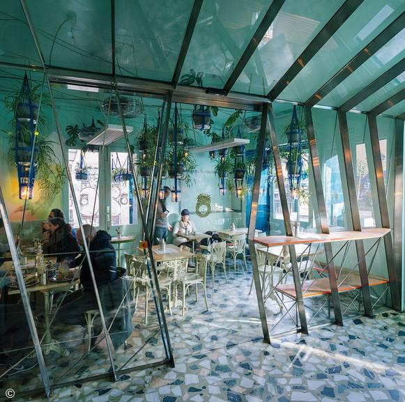 ديكور مطعم صغير