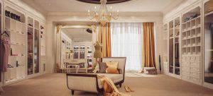 تصميم غرف ملابس بالاضافة الى تصميم غرف نوم مع غرفة ملابس وحمام