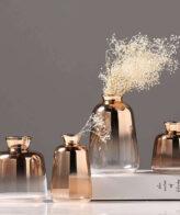 اناء الزجاج المطلي بالذهب اكسسوارات منزلية