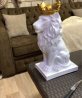 تمثال الاسد ذو التاج الذهبي اكسسوارات منزلية