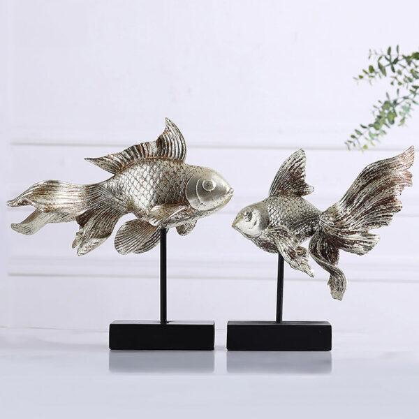 تمثال الاسماك المعلقة الحديثة اكسسوارات منزلية