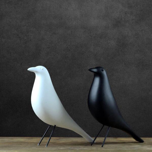 تمثال الطيور البسيطة للديكور اكسسوارات منزلية