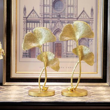 تمثال الفطريات الذهبي اكسسوارات منزلية