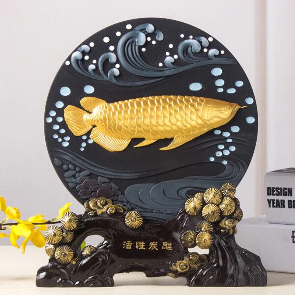 تمثال اللوحة البحرية المرسومة الصينية اكسسوارات منزلية