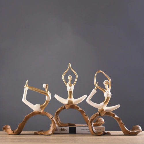 تمثال رياضة اليوغا الامريكي اكسسوارات منزلية