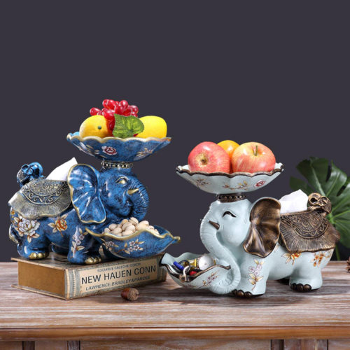 تمثال فيل الفاكهة متعدد الوظائف اكسسوارات منزلية