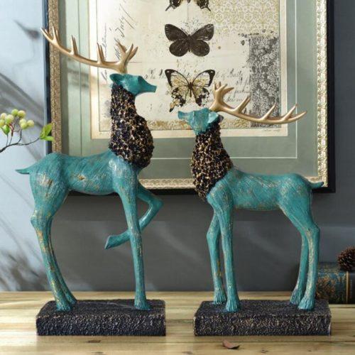تمثال الغزال الامريكية حيوان الايل ديكور و اكسسوارات
