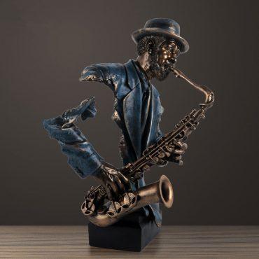 تمثال عازف الساكسفون الموسيقي ديكور و اكسسوارات