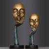 تمثال الوجه الأوروبي للفن المجرد ديكور و اكسسوارات