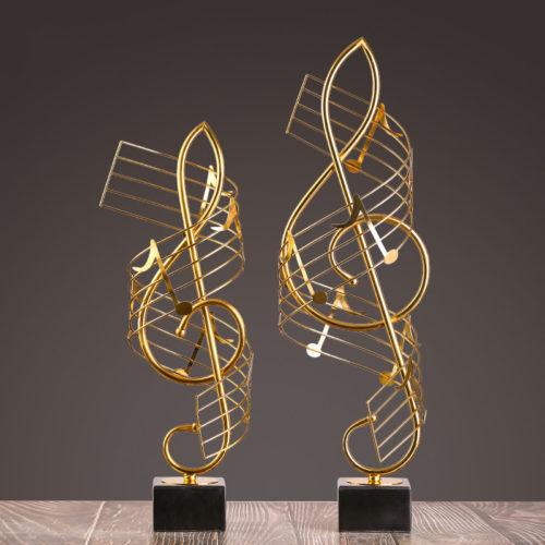 قطع الموسيقى الحديدية النحتية ديكور و اكسسوارات