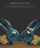 ديكور زينة تمثال الارنب البري الازرق ديكور و اكسسوارات