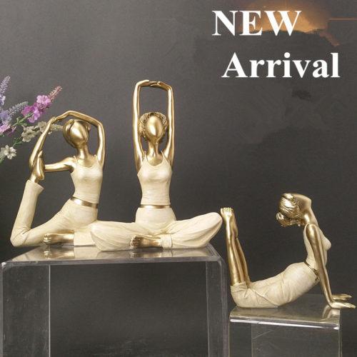 تمثال سيدة اليوغا الحديث ديكور و اكسسوارات