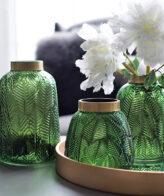مزهرية ورق الشجر الأخضر ديكور و اكسسوارات