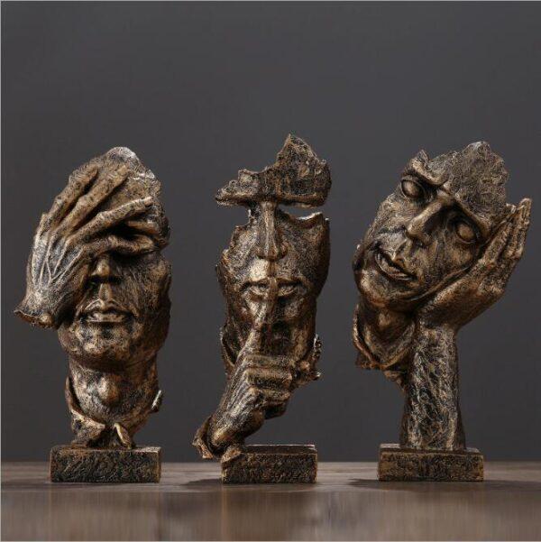 تمثال فن النحت الحديث الصامت ديكور و اكسسوارات
