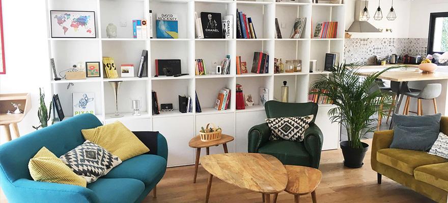 ديكور و تصميم مكتبة منزلية