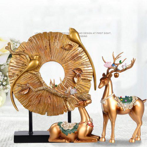 تمثال زخرفة حيوانات الغزال الاوروبية ديكور و اكسسوارات