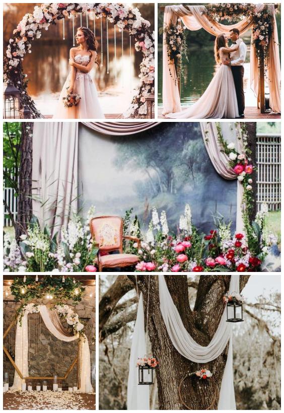 ديكور حفل زفاف رمانسي