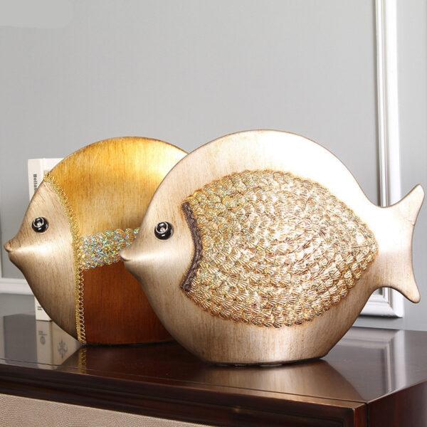 زوج السمك السيراميكي للديكور اكسسوارات منزلية