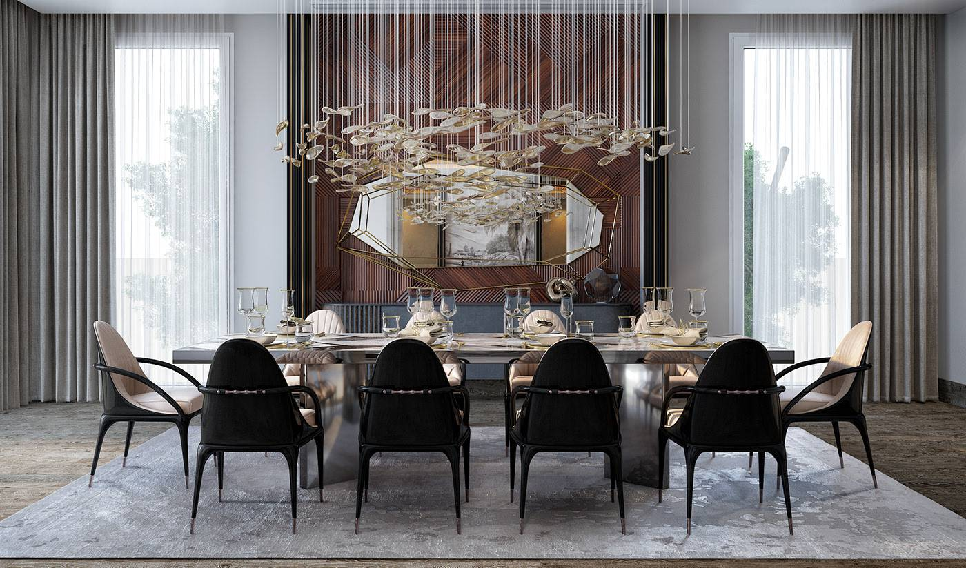 طاولة الطعام في غرفة الجلوس