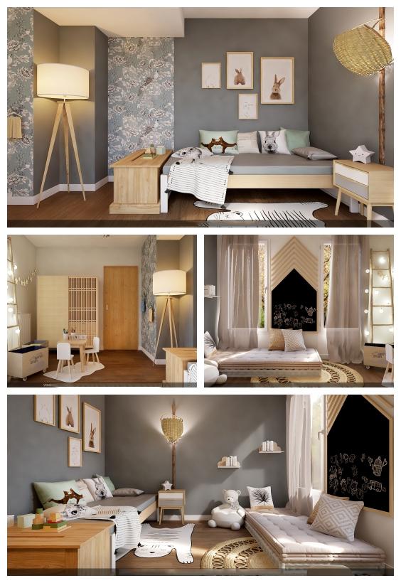 غرفة النوم الزرقاء