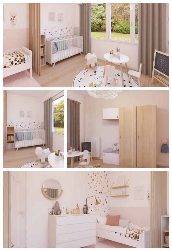 غرفة نوم الاطفال المختلطة