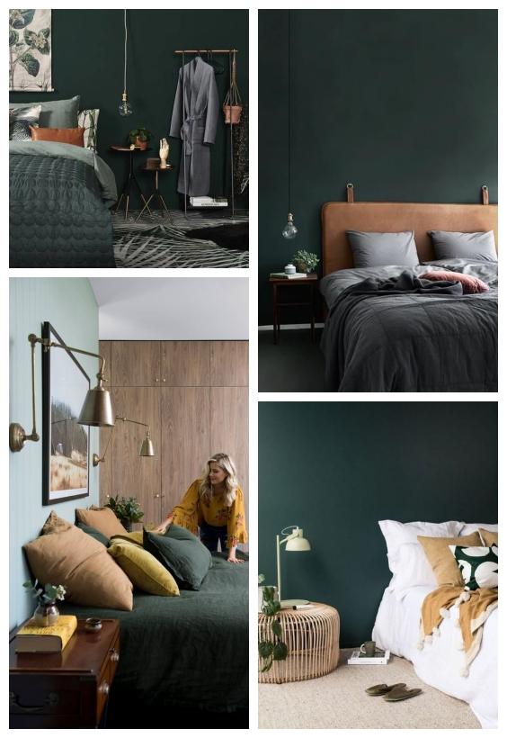 غرفة نوم خضراء