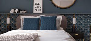 تطبيق طراز الارت ديكو في غرف النوم