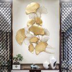 ورقة الجنكة ديكور الجدارة الفاخر اكسسوارات جدارية