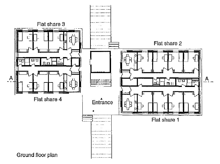 تصميم سكن طلابي مسقط عام