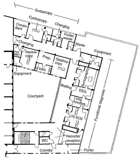 تصميم مشفى صغير
