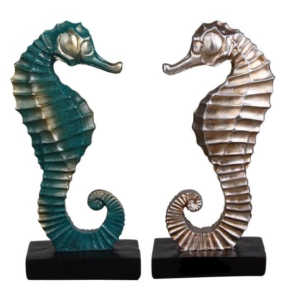 تمثال اكسسوار حصان البحر البرونزي اكسسوارات منزلية