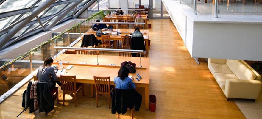 تصميم مكتبة و تصميم قاعات المطالعة