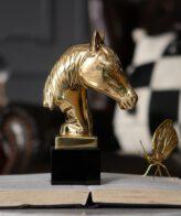 شكل رأس الحصان الفاخر اكسسوار اكسسوارات منزلية
