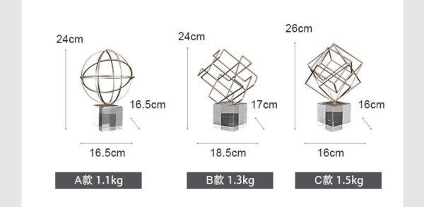 ديكور تماثيل مربعات الاسكندنافية اكسسوارات منزلية