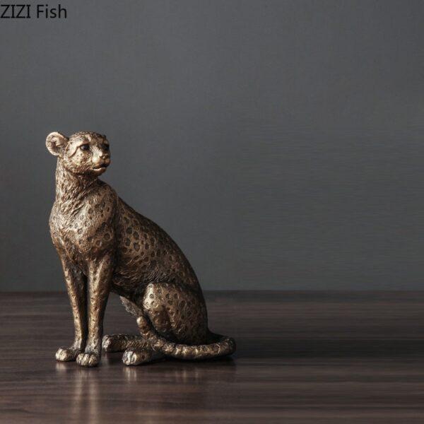تمثال الفهد الحكلي الذهبي الجاكوار اكسسوارات منزلية