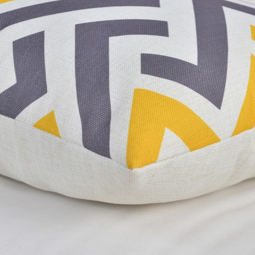 Nordic Geometeic Cushion Cover Colourful Triangle Pillow Covers Yellow Gray Pillowcases 45*45cm Home Office Decorative Pillows