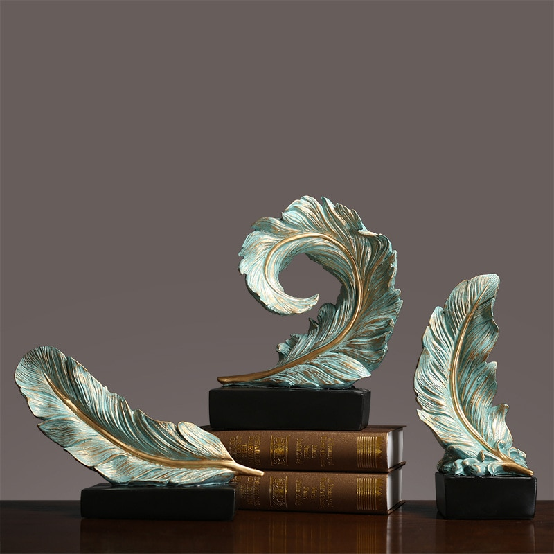American Villa Model Room Soft Decoration Creative Feather Sculpture Living Room Porch Office Crafts Decoration