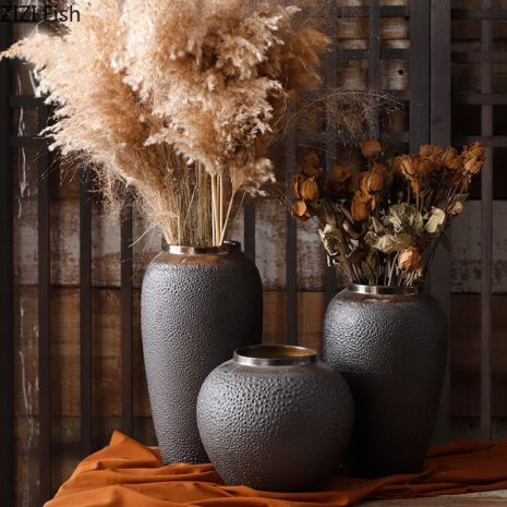 مزهرية فازو وعاء الطين اكسسوارات منزلية
