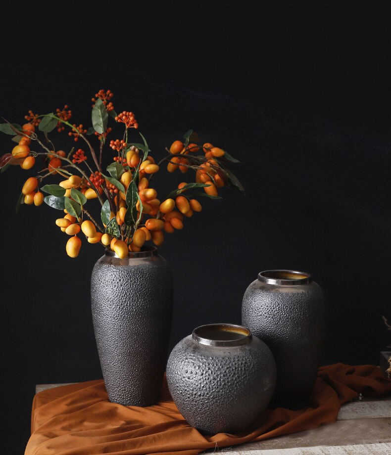Nordic Flower Vase Home Decorations Retro Vases for Flowers Clay Pot Hydroponics Floral Ornaments Home Decoration Accessories