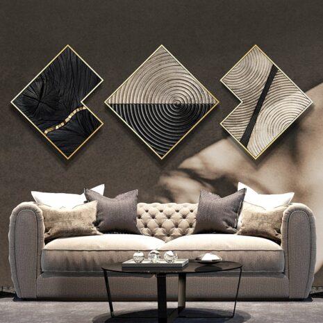 لوحات غرفة المعيشة الايطالية الفاخرة اكسسوارات جدارية