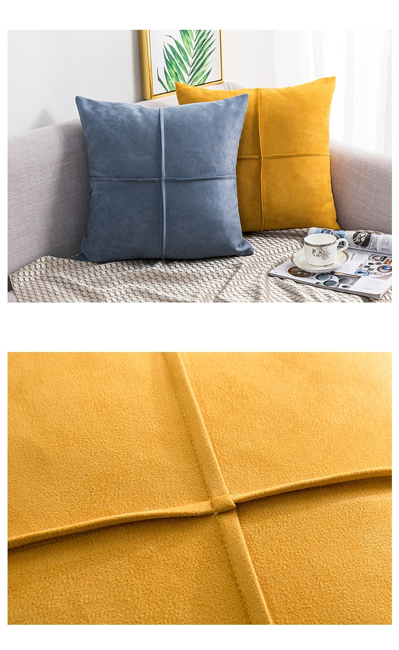 3D suede solid soft sofa cushion cover 45*45cm plaid plush home decor pillowcase brown leopard print white fashion pillow cover