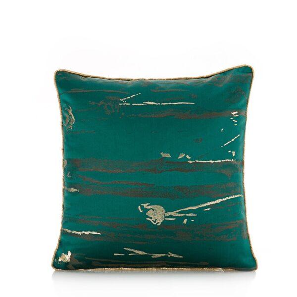 غطاء الوسادة الفاخرة الخضراء المزخرف وسادة كوشن