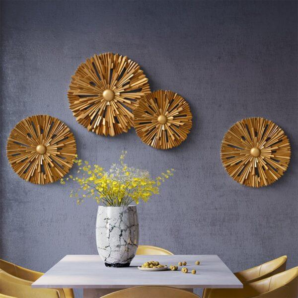 زخرفة الحائط الدائري المشمس اكسسوارات جدارية
