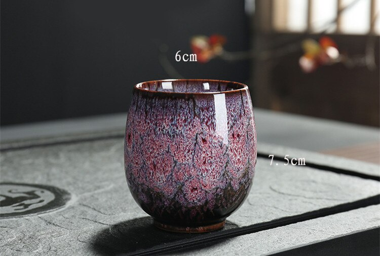 Ceramic 150ML China Tea Cup Kiln Change Ceramic Home Tea Cup Creative ceramic cup I026