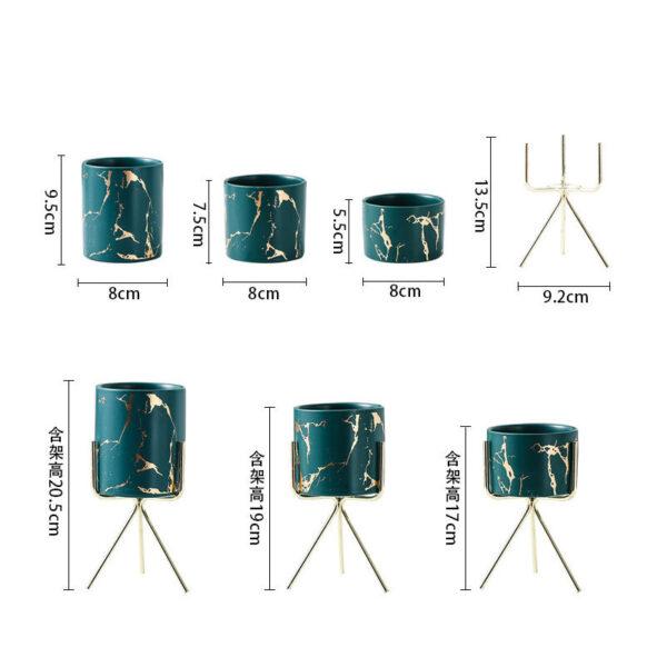 اكسسوار وعاء المكياج السيراميكي اكسسوارات منزلية
