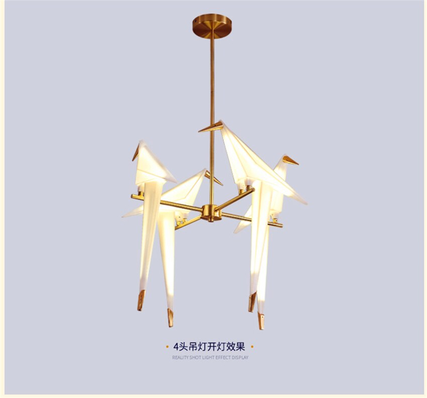PostModern Bird Acrylic LED Pendant Light Lighting Pendant Lamp Bedroom Living Room Hanging Lamp Luminaire Loft Kitchen Fixtures