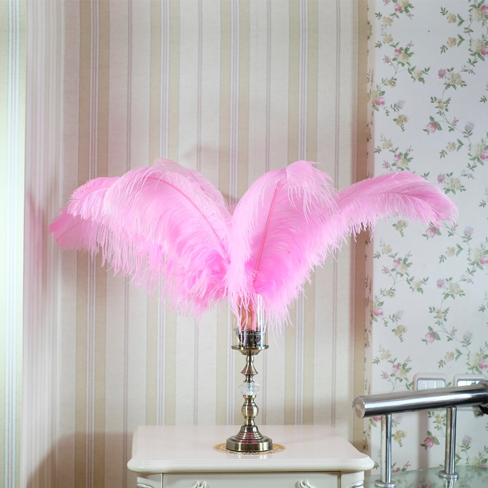Fashion New Color Feathers Fluffy Ostrich Feathers 45-60cm Large Feathers For Wedding Party Center Pieces Decoration Home Deco
