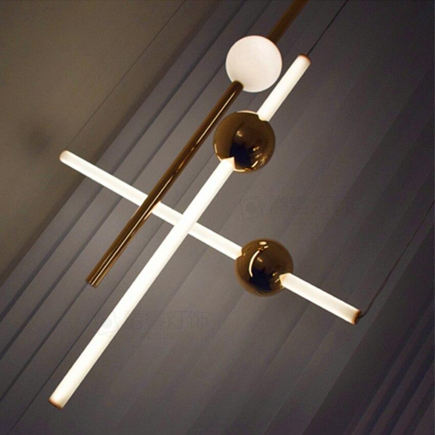 Modern Orion Tube Pendant Lights for Living Room Gold Led Hanging Lamp Bedroom Kitchen Home Loft Industrial Decor Light Fixtures