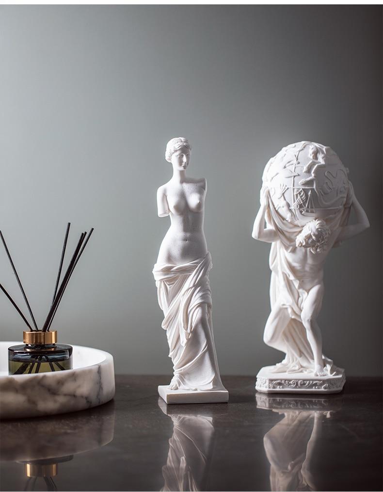 Home Decoration Accessories Roman Mythology Venus Ancient Greek Atlas Prometheus Figurine Living Room Ornament Objects Office