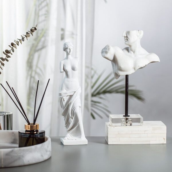 تمثال نحت الشعر الروماني اكسسوارات منزلية